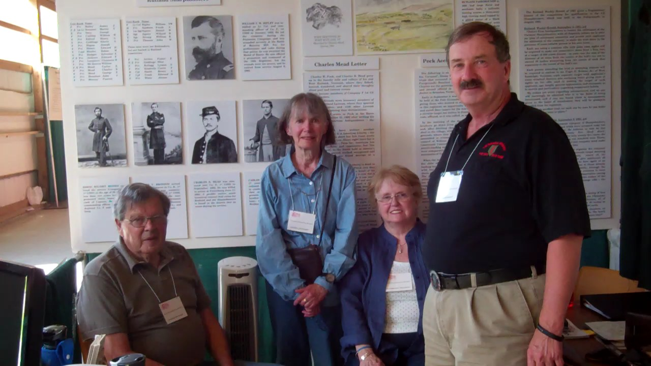 Our Hosts at the Vermont History Expo, 2012.