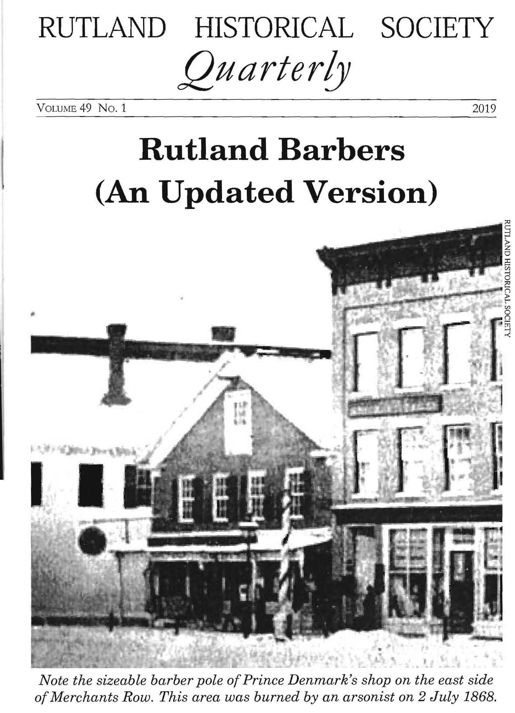 RHSQ Vol.49, No,1-Cover