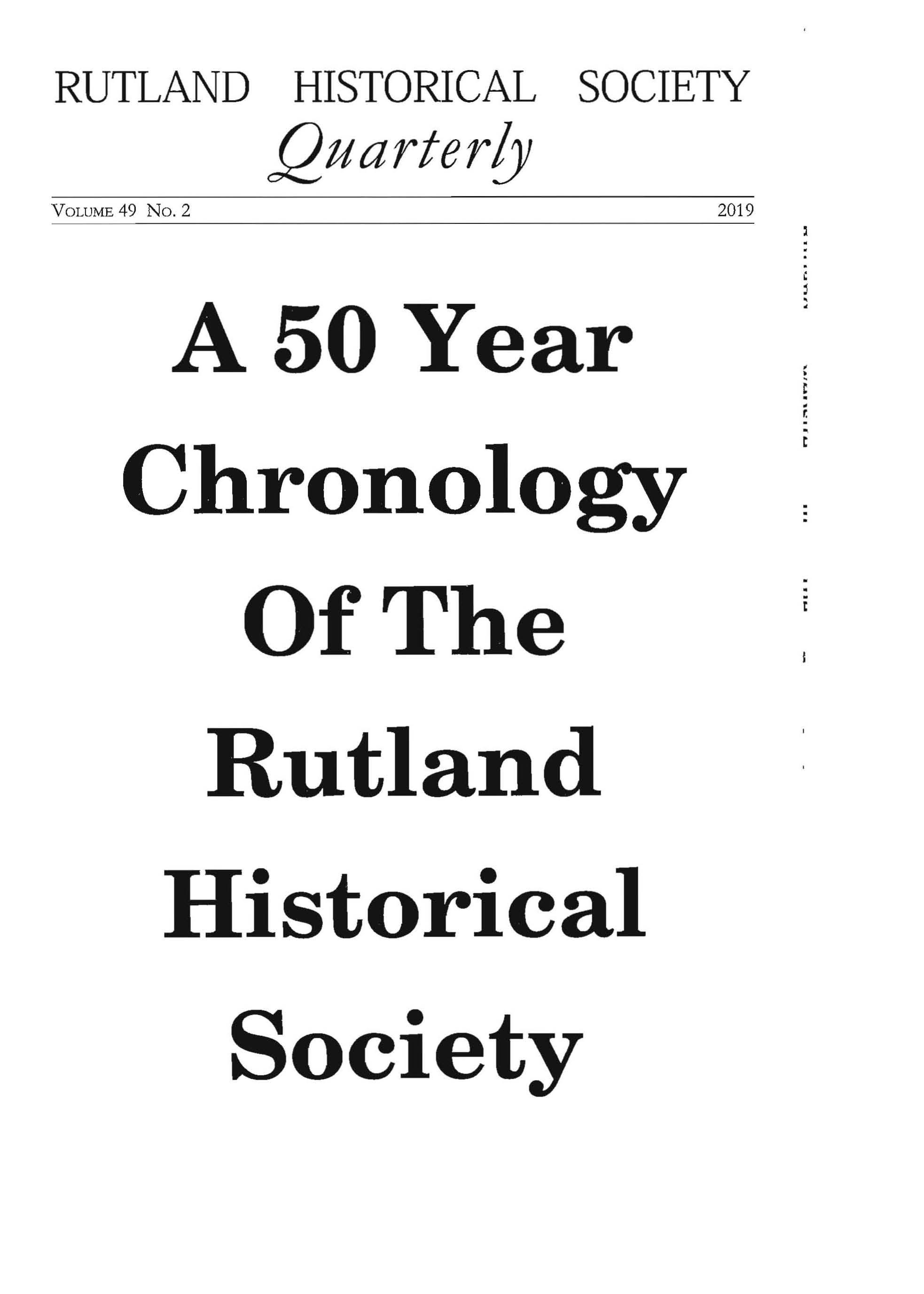RHSQ Vol.49, No,2-Cover