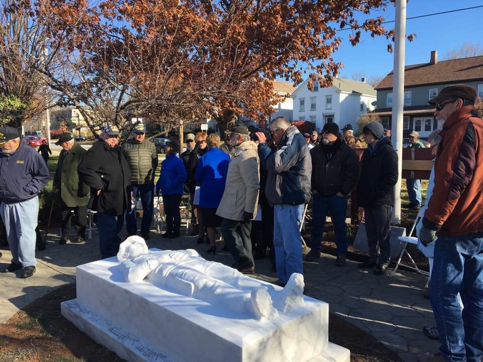 Rededication of new monument Nov 2017 at the Memorial Site in the Park pic 2