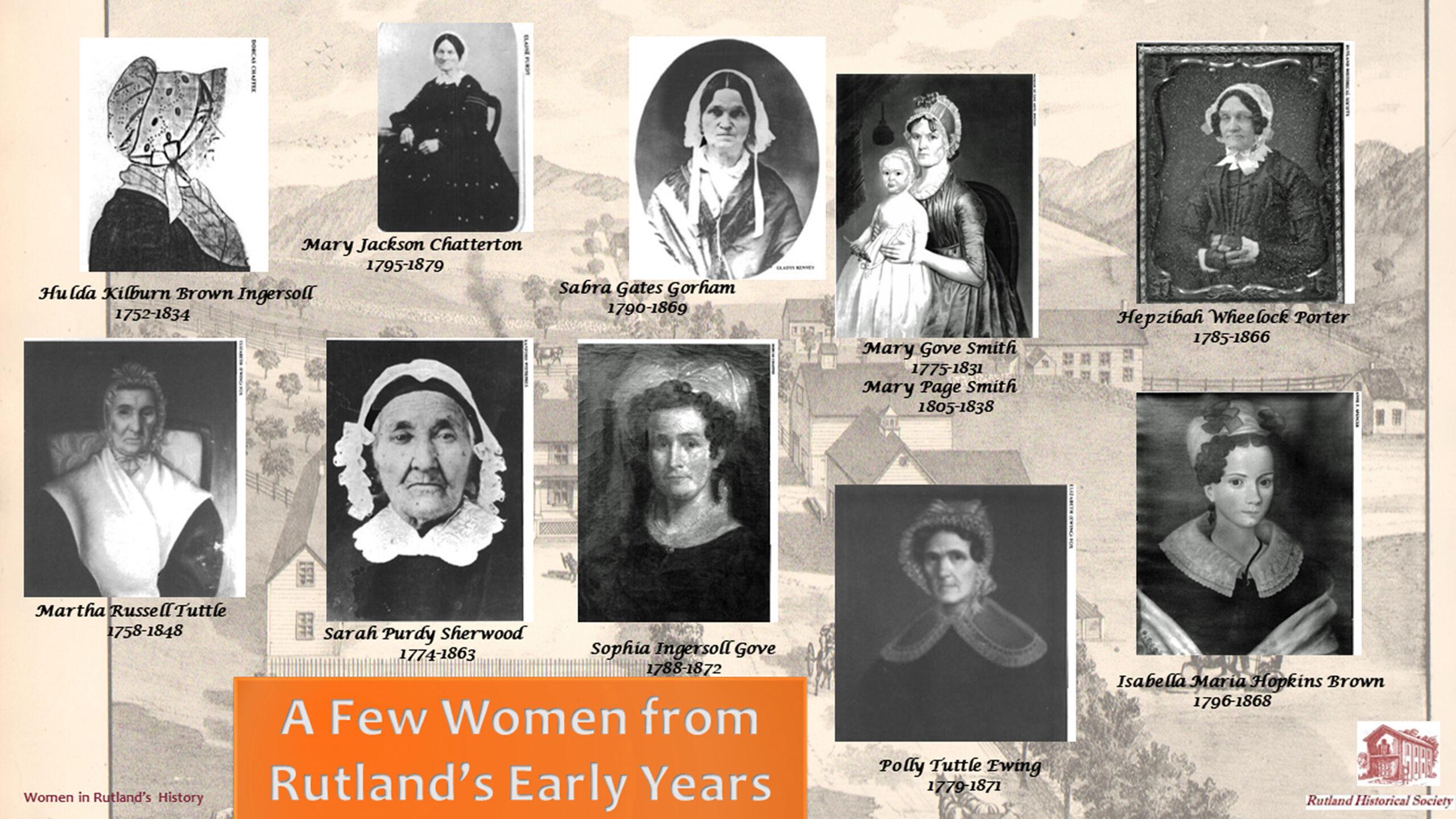 March 2021 Women in Early Rutland History