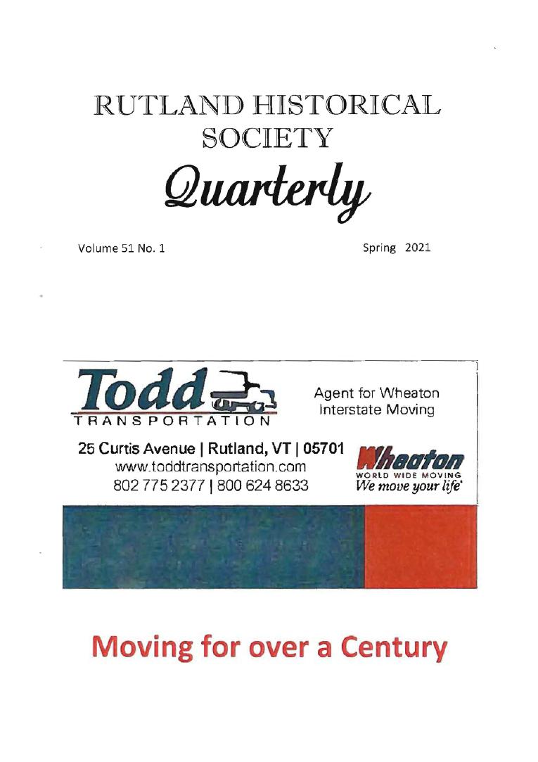 RHSQ Vol.51, No.1 2021-Cover.