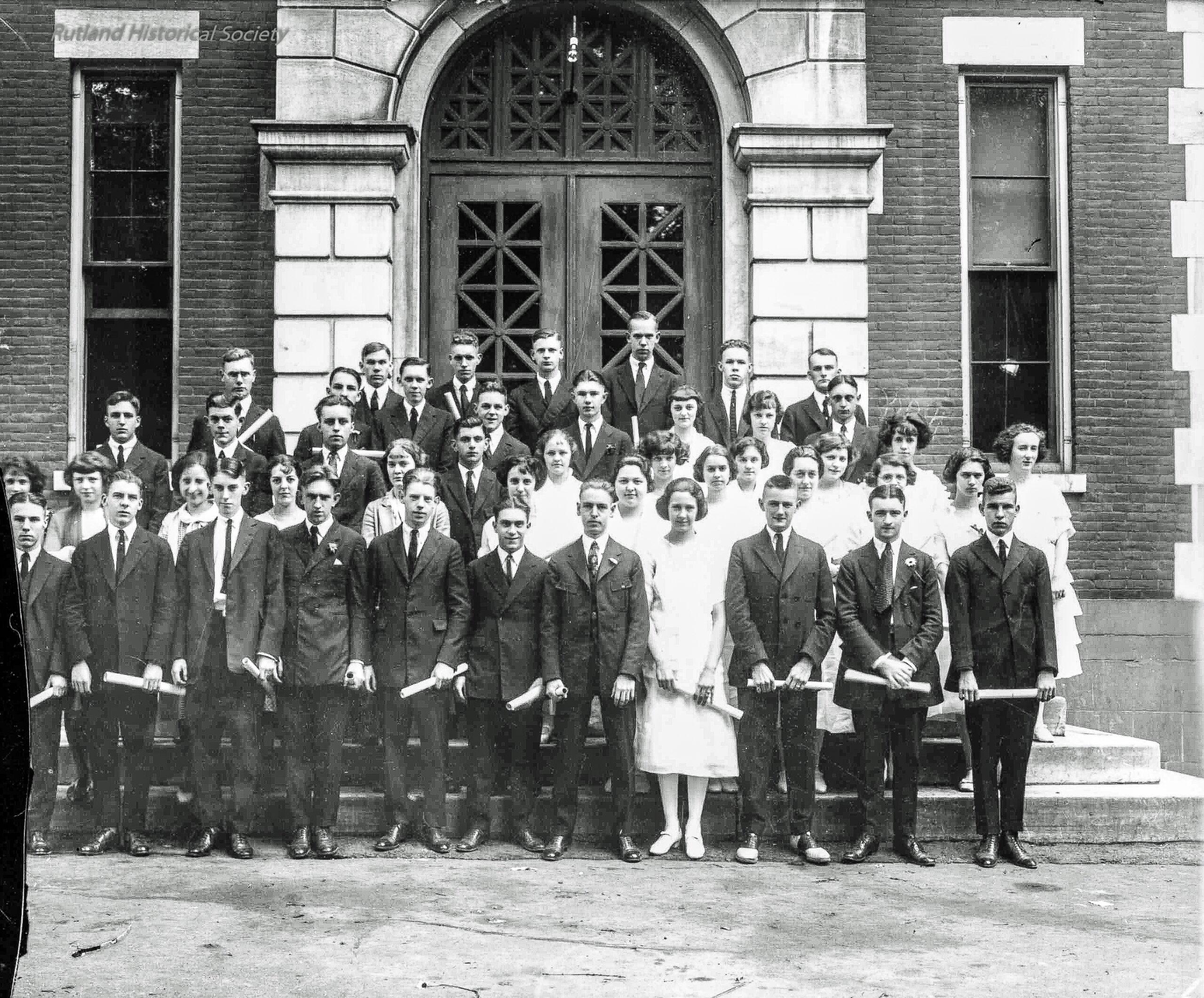 Rutland High School Class of 1923  (Virginia Gregory Collection)